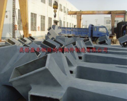 Steel structure of cast steel joints